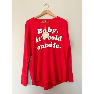 NWT MUMU MELLOW 'Baby It's Cold Outside' Shirt